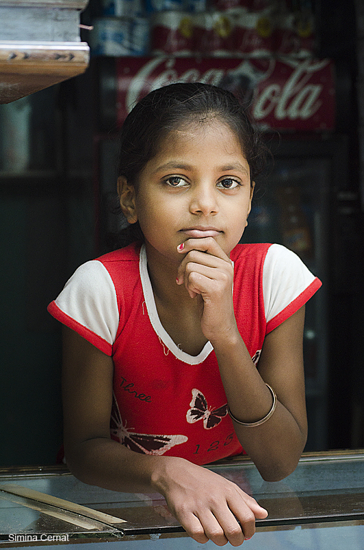Yound girl in India