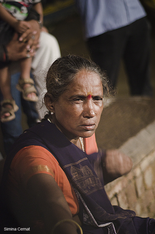 Woman at Ganga river India