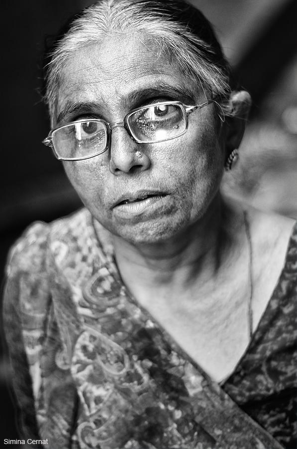 Old woman in Varanasi India