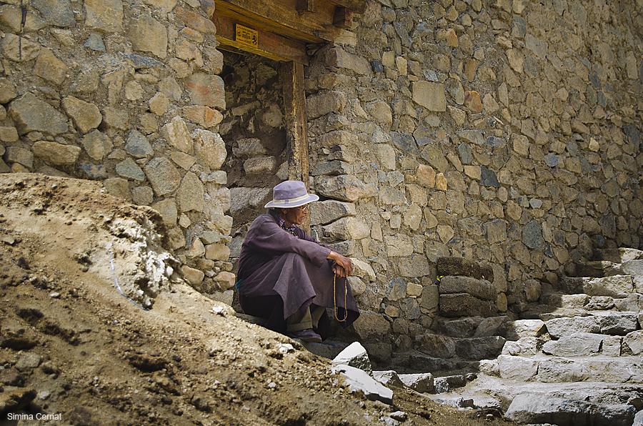 Old man in Ladakh India