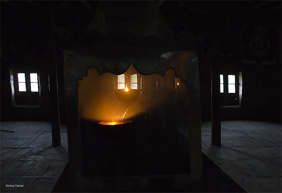 Light in a Buddhist temple