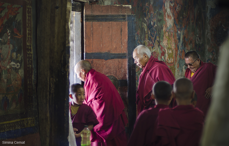 Buddhist monks in Ladakh, India