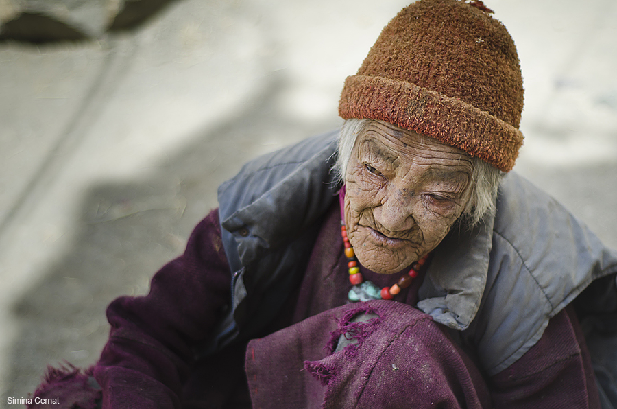 Old woman in Ladakh India