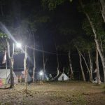 Camping with students in Indonesia