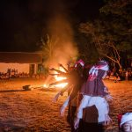 Scout fire camp in Indonesia