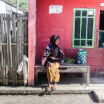 Old woman in Dieng Plateau, Central Jawa, Indonesia