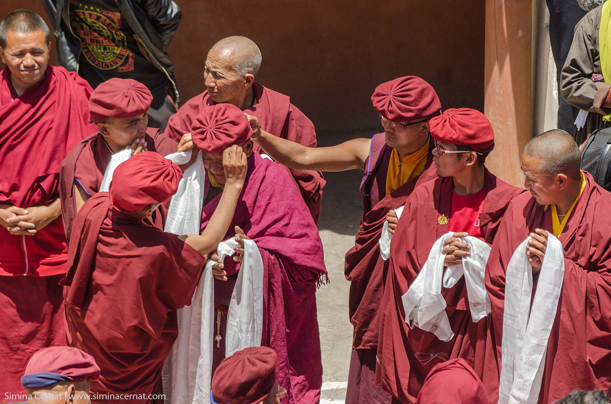 monks at hemis Monastery