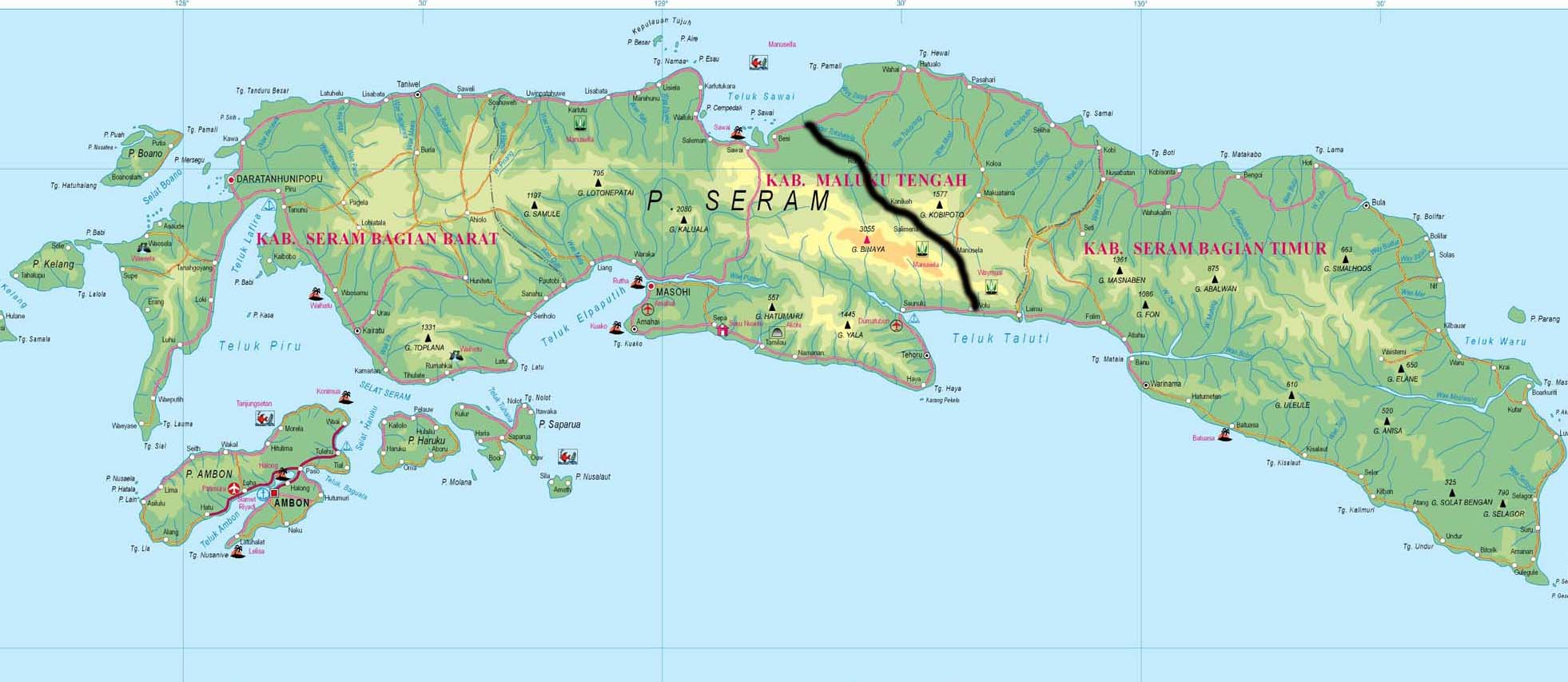 Hartă traseu Seram